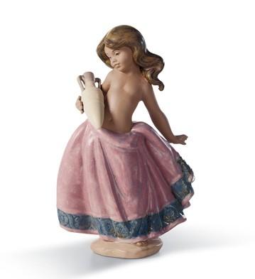 Little Peasant Girl (pink) Lladro Figurine