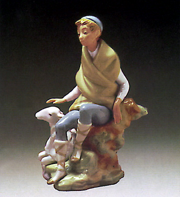 Little Shepherd W/goat Lladro Figurine