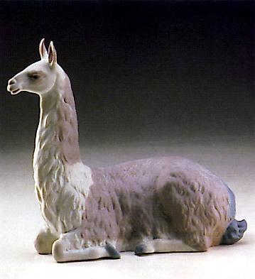 Llama Resting Lladro Figurine