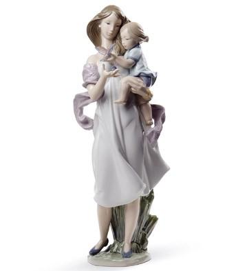 Look Mommy! Lladro Figurine