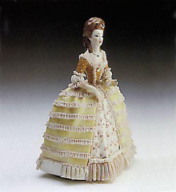 Luis Xv Lady Lladro Figurine