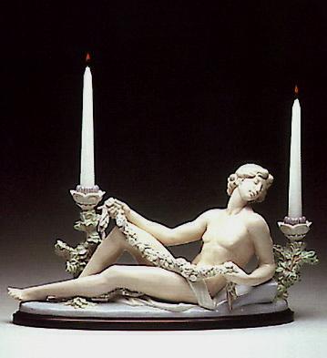Male Candleholder (b) Lladro Figurine