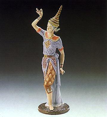 Male Siamese Dancer Lladro Figurine