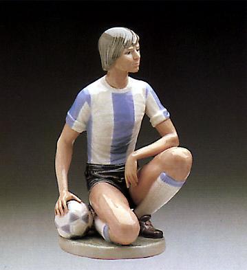 Male Soccer Player Lladro Figurine