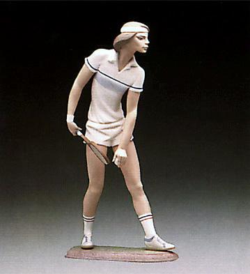 Male Tennis Player Lladro Figurine