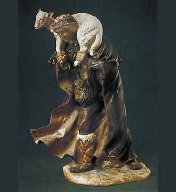 Man W/lamb On Shoulders Lladro Figurine