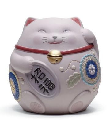 Maneki Neko Iii (pink) Lladro Figurine