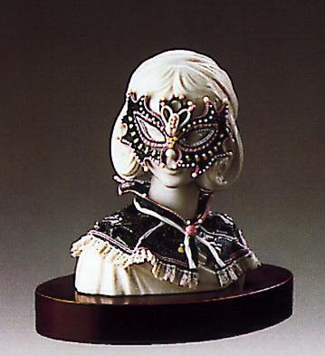 Mardi Gras Bust(b) Lladro Figurine