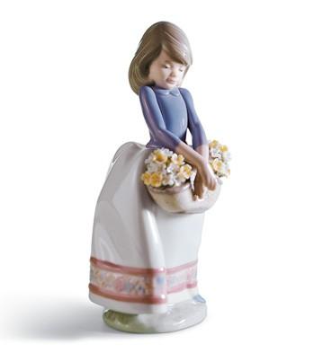 May Flowers Lladro Figurine