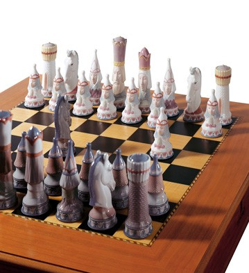 Medieval Chess Set Lladro Figurine