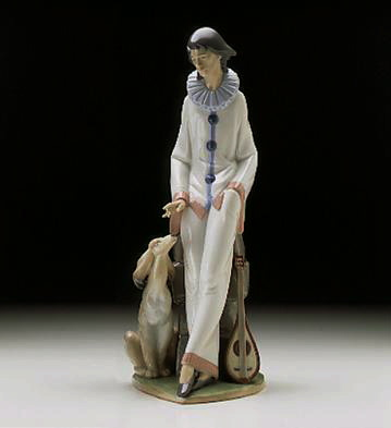 Melancholy Musician Lladro Figurine