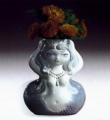 Mermaid Flower Jar Lladro Figurine