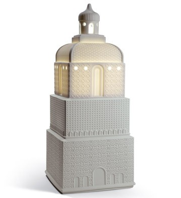 Metropolis - Lamp - Light Grey (uk) Lladro Figurine