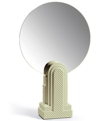 Metropolis - Vanity Mirror (light Green) Lladro Figurine