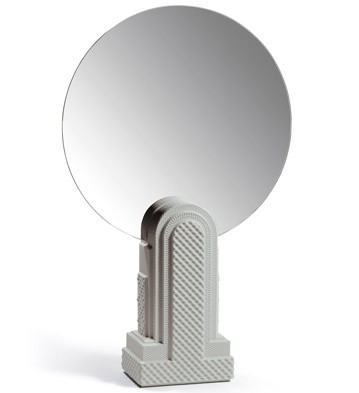 Metropolis - Vanity Mirror (light Grey) Lladro Figurine