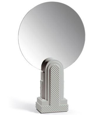 Metropolis - Vanity Mirror (light Grey) Lladro Figurine