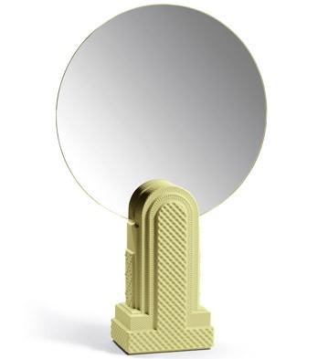 Metropolis-vanity Mirror(light Yellow) Lladro Figurine