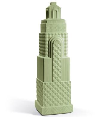 Metropolis - Vase Ii (dark Green) Lladro Figurine