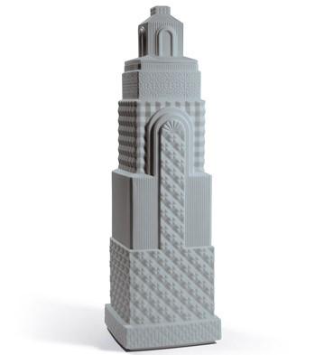 Metropolis - Vase Ii (dark Grey) Lladro Figurine