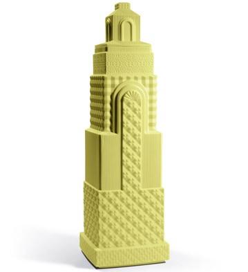 Metropolis - Vase Ii (dark Yellow) Lladro Figurine
