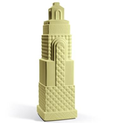 Metropolis - Vase Ii (light Yellow) Lladro Figurine