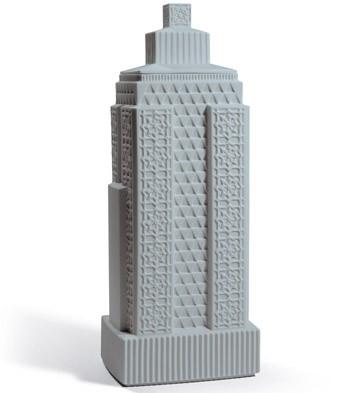 Metropolis - Vase Iii (dark Grey) Lladro Figurine