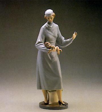 Midwife Lladro Figurine