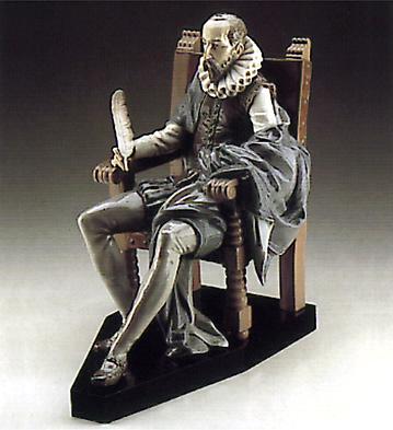 Miguel De Cervantes (b) Lladro Figurine