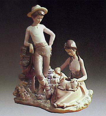 Milk For The Lamb Lladro Figurine