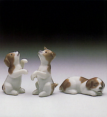 Mini Puppies (set Of 3) Lladro Figurine