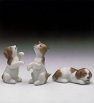Mini Puppies (set Of 3) Lladro Figurine