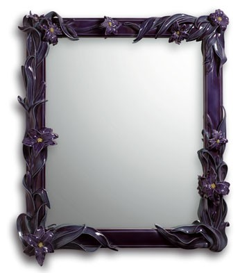 Mirror With Lilies (purple) Lladro Figurine