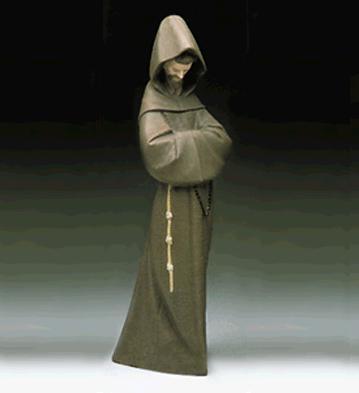 Monk Lladro Figurine