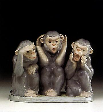 Monkey Business Lladro Figurine