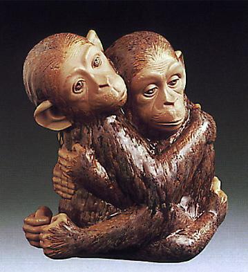 Monkeys-bust- Lladro Figurine