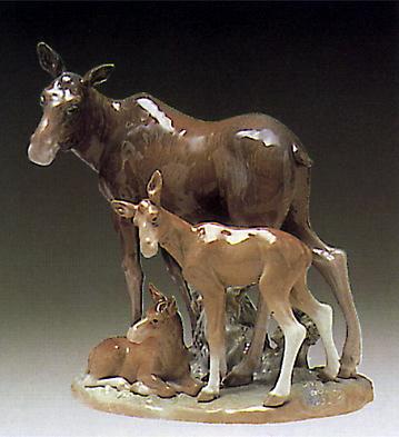 Moose Family Lladro Figurine