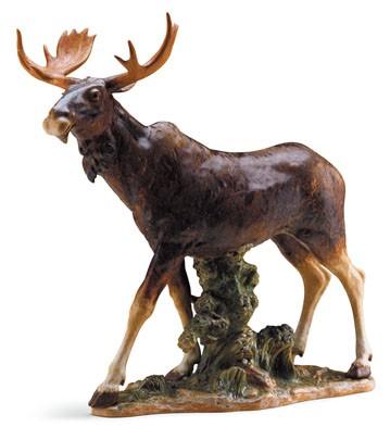 Moose (l.e.) Lladro Figurine