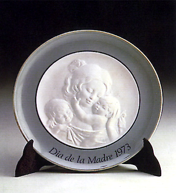 Mother's Day Plate 1.973 Lladro Figurine