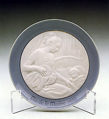 Mother's Day Plate 1.976 Lladro Figurine