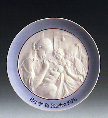 Mother's Day Plate 1.978 Lladro Figurine