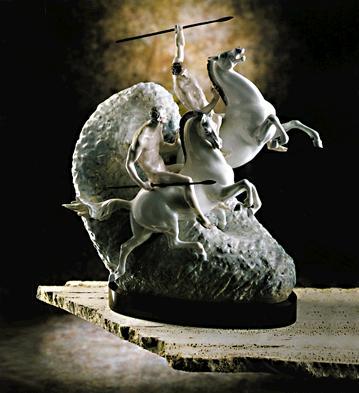 Mounted Warriors Lladro Figurine
