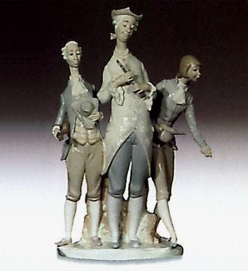 Musical 19th Century Lladro Figurine
