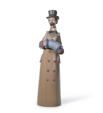 Musician With Accordion Lladro Figurine