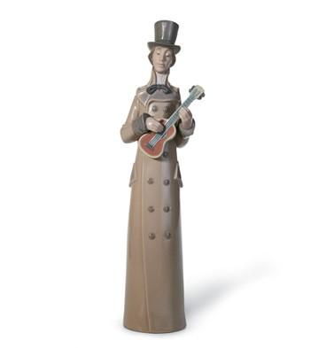 Musician With Guitar Lladro Figurine