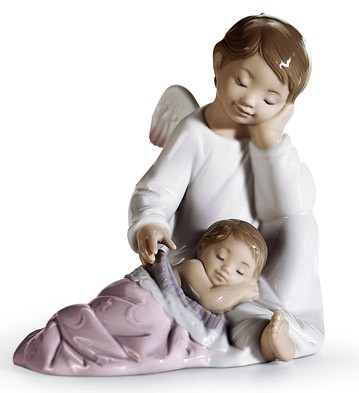 My Guardian Angel (pink) Lladro Figurine