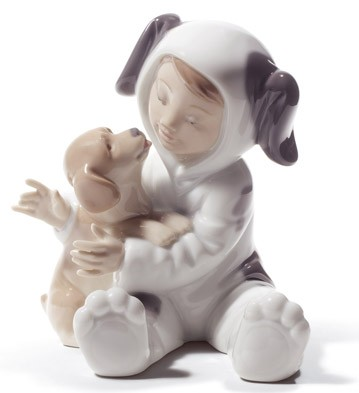 My Playful Puppy Lladro Figurine