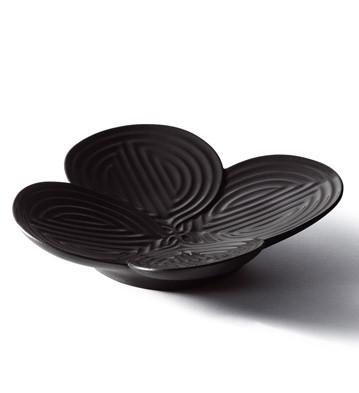 Naturo. -appetizer Plate (black) Lladro Figurine