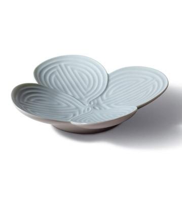 Naturo. -appetizer Plate(turquoise) Lladro Figurine