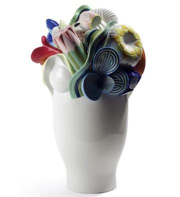 Naturo. -large Vase (multicolor) Lladro Figurine