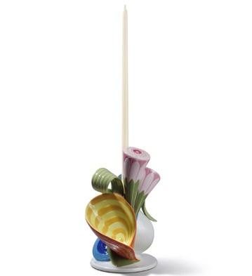 Naturo. - Single Candleholder (multic.) Lladro Figurine